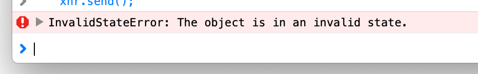 InvalidStateError: The object is in an invalid state.
